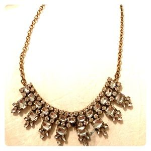 J. Crew Gold and Rhinestone Necklace